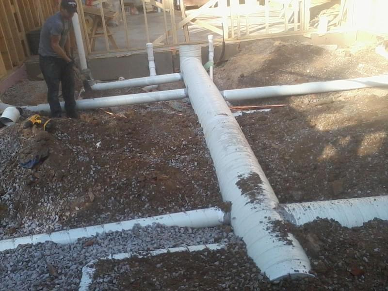 Installation images and photo gallery for kirkwood heating for Air conditioner slab