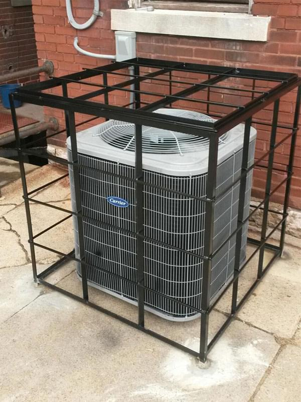 Custom Built Air Conditioner Cage Completed